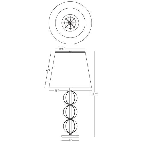latitude table lamp by robert abbey lighting 3372