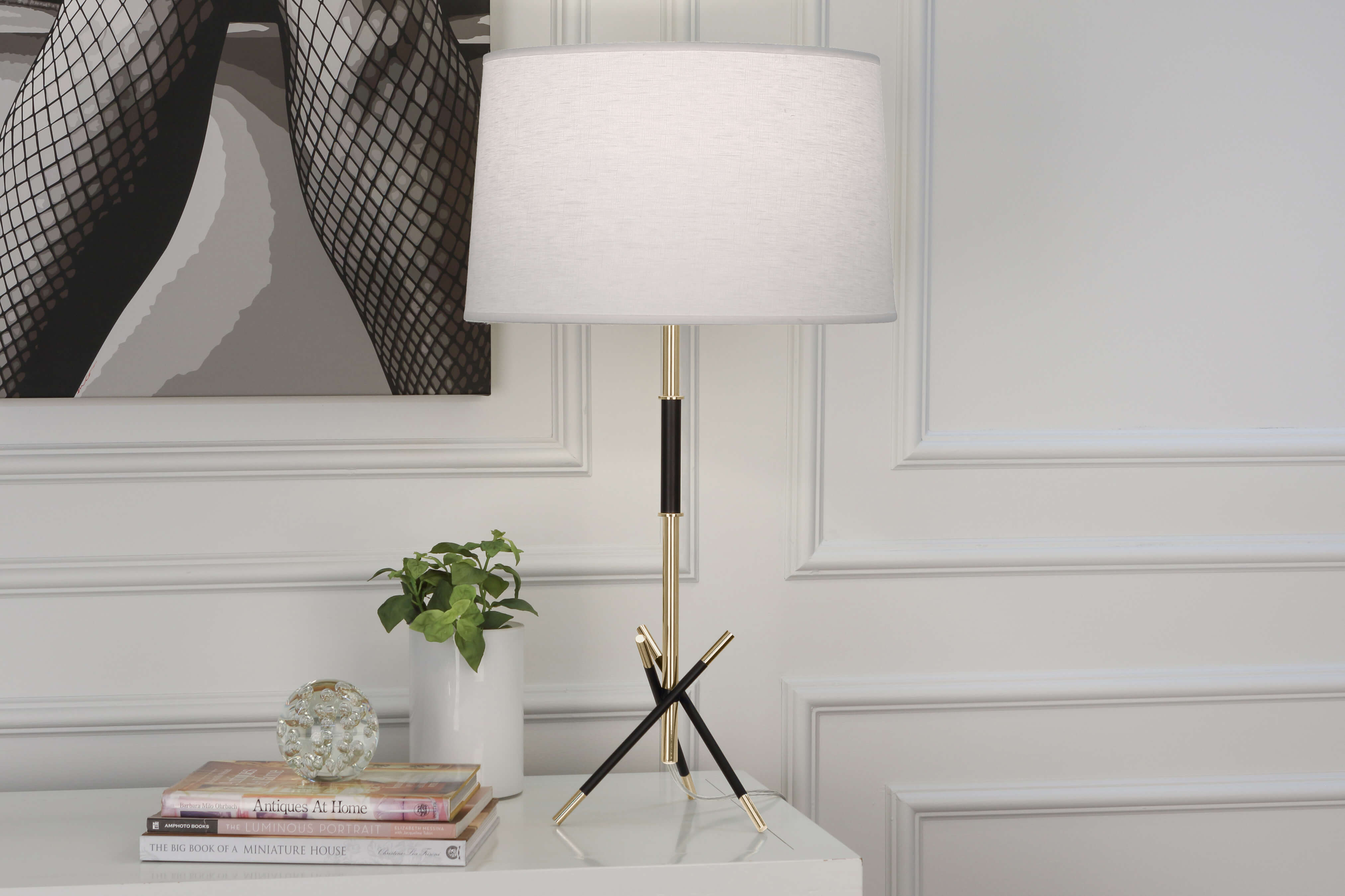 THATCHER TABLE LAMP by Robert Abbey