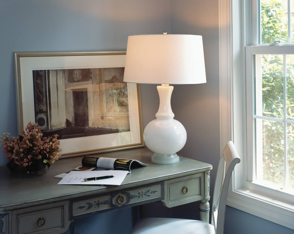 GLASS HARRIET TABLE LAMP by Robert Abbey